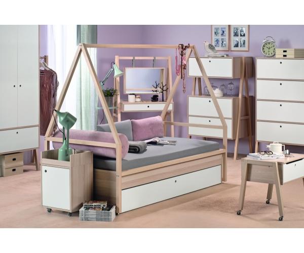 combin lit cabane tipi lit enfant 90 x 200 spot avec tiroir r ves merveilles. Black Bedroom Furniture Sets. Home Design Ideas