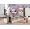 Combiné Lit Cabane : Tipi + Lit enfant 90 x 200 SPOT avec tiroir