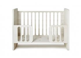 Lit bébé évolutif 60 x 120 cm - Ivoire