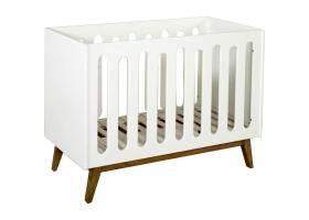 Lit bébé Trendy Blanc - 60 x 120 cm