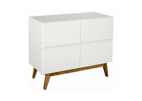 Commode 4 tiroirs Trendy Blanc
