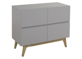 Dresser With Changing Table in white - Trendy by Quax