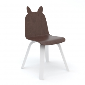 Lot de 2 Chaises Play Lapin - Noyer
