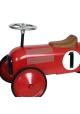 Voiture de course porteur en métal rouge