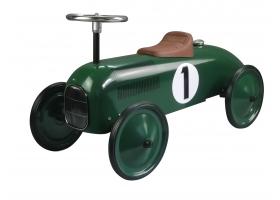 Voiture de course porteur en métal vert