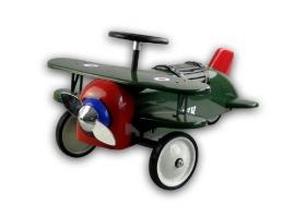 Porteur Avion biplan en métal vert