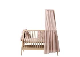 Ciel de lit bébé LINEA rose pâle LEANDER