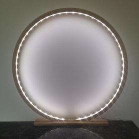 Lampe à poser en bois brut Naturel - Taille 60 cm