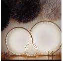 Lampe à poser en bois brut Naturel - Taille 25 cm