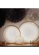 Lampe à poser en bois brut Naturel - 60 cm
