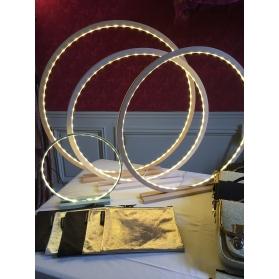Lampe à poser en bois brut Naturel - Taille 70 cm