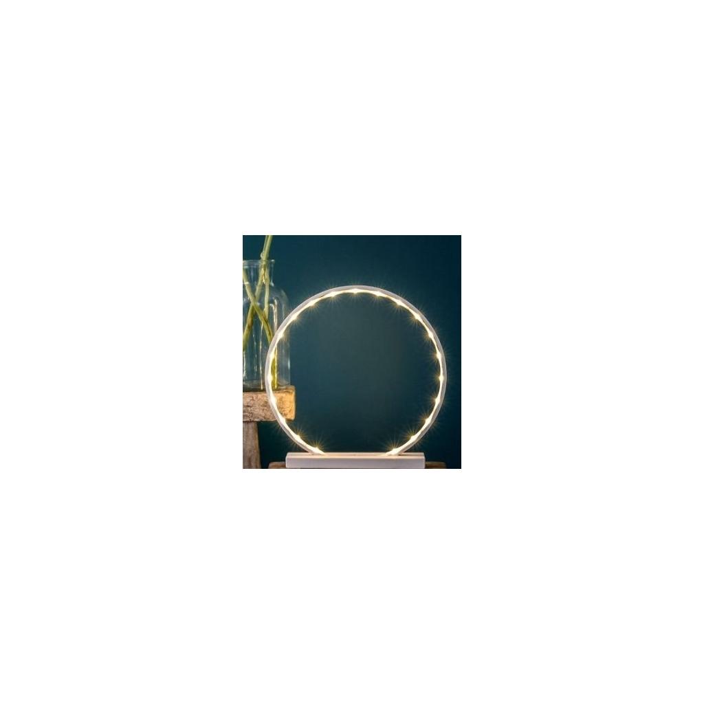 Lampe Cercle Comme Un Rayon De Soleil En Bois Peint Rose Poudre