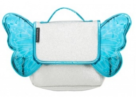 Pre School Bag with silver blue glitter - Butterfly