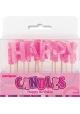 Bougies ~Set de bougies Happy Birthday rose~