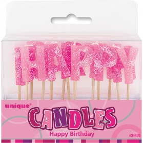Candles ~Candles Happy Birthday pink~