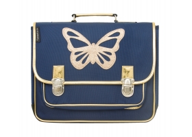 School Bag ~Butterfly blue and gold Satchel~