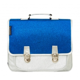 School Bag ~Small School Bag with blue and silver glitter~
