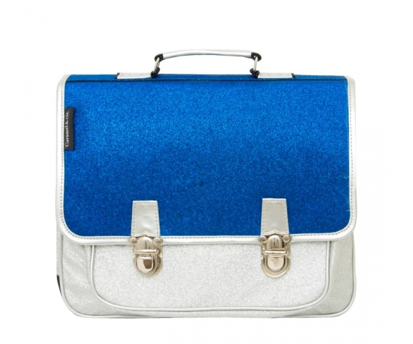 School Bag ~School Bag with blue and silver glitter~