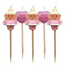 Ballerine ~Set de bougies d'anniversaire~