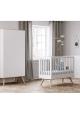 Lit bébé Nature Blanc - 60 x 120 cm