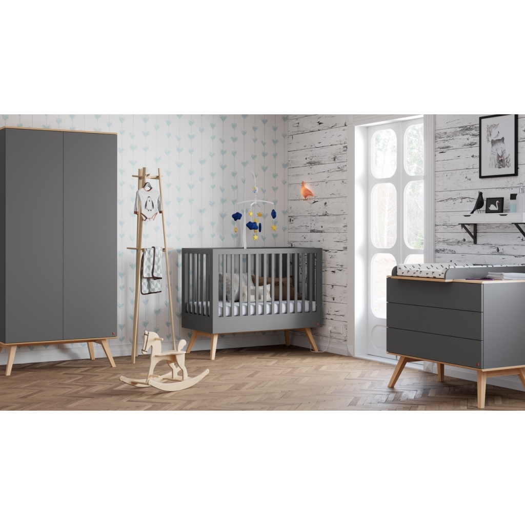 Baby Bed 60 x 120 cm - Grey Nature by Vox