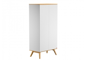 2-DOOR WARDROBE Nature - White