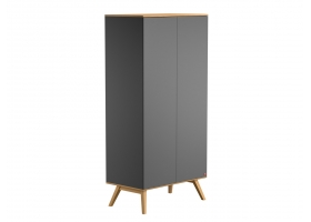 2-DOOR WARDROBE Nature - Grey