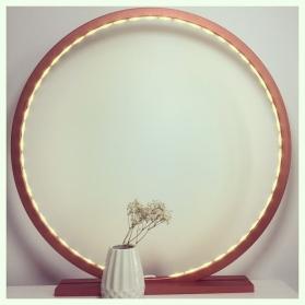 Bois Peint Comme Rayon Un Cercle Soleil Mat En Cuivre Lampe De ulOTPkwZiX