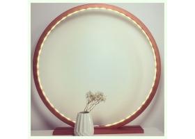 Lampe à poser en bois peint Cuivre mat - 25, 30, 60 ou 70 cm