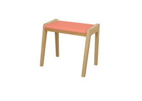 "Stool ""My great pupitre"" - Old pink oak"