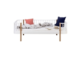 Oak WOOD Sofabed 90 x 200 cm - Natural
