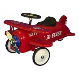 Porteur Avion biplan en métal rouge