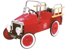 Voiture à pédales Camion de pompiers rouge