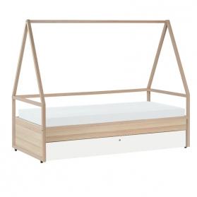 Combiné Lit Cabane : Tipi + Lit enfant 90 x 200 SPOT avec lit gigogne