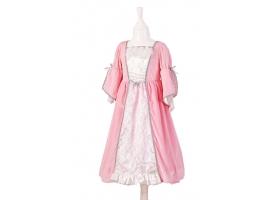 Robe de Princesse rose avec cape argentée et cerceau