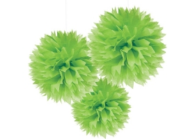 Pompon ~Set de 3 pompons - vert~
