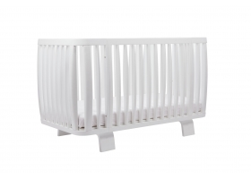 Baby Bed Crib RETRO 70 x 140 cm - White