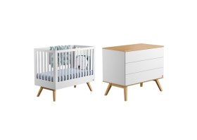 Dresser With Changing Table Nature white