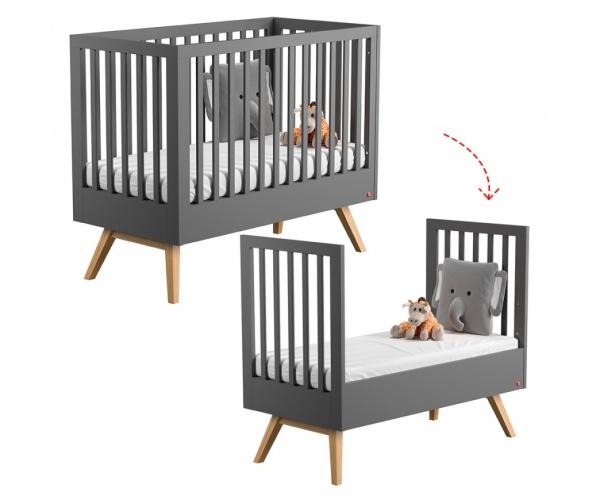 Bed 140 Cm.Baby Bed 70 X 140 Cm Nature Grey