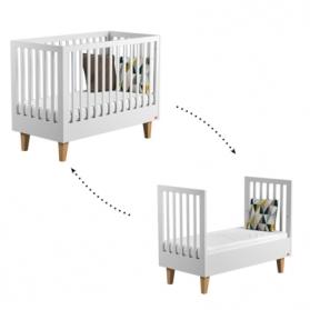 Lit bébé Lounge Blanc évolutif - 70 x 140 cm
