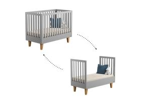 Lit bébé Lounge Gris - 70 x 140 cm