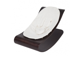 Coco stylewood lounger Cappuccino - White Cushion