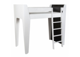 Ketara Loft Bed by LUMOKIDS - 80 x 160 cm - Black and White