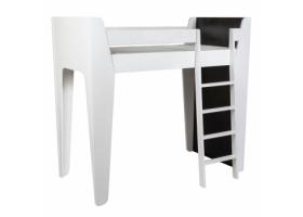 Lit mezzanine KETARA 80 x 160 cm - Blanc/Noir