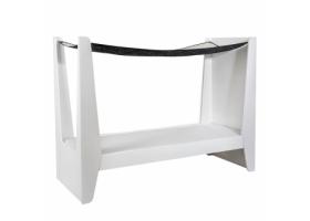 Lit Cabane KETARA 80 x 160 cm - Baldaquin Blanc