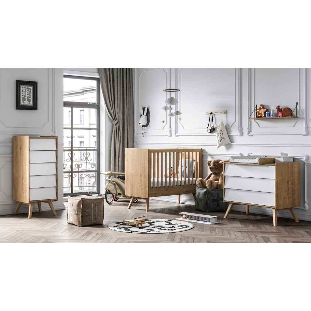 Dresser Vintage white With optional Changing Table by Vox