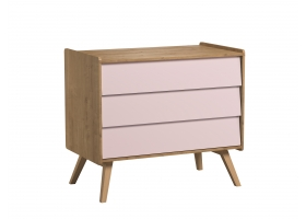 Dresser With Changing Table Vintage pink