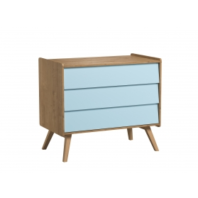 Dresser With Changing Table Vintage blue