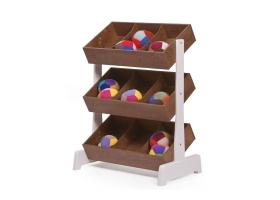 Toystore Meuble de rangement Jouets - Noyer