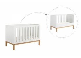Baby Bed 70 x 140 cm - Indigo white